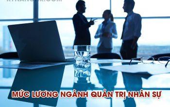 lương ngành quản trị nhân lực