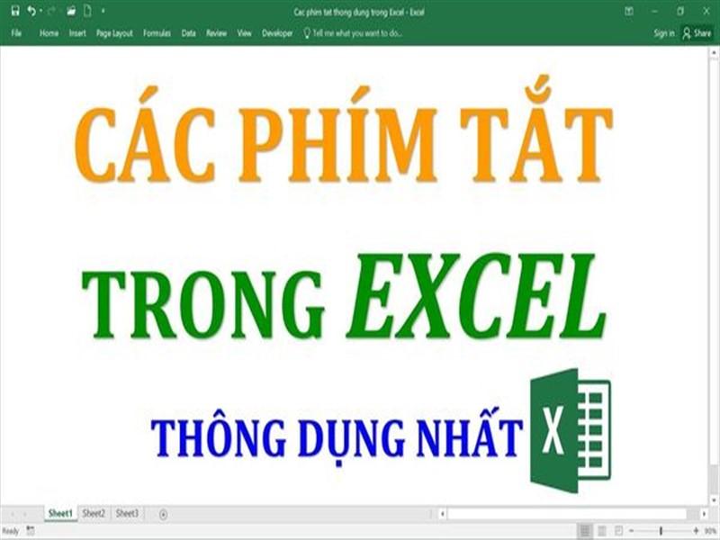 Phím tắt thông dụng trong Excel