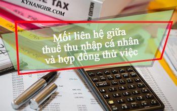 Mối liên hệ giữa thuế thu nhập cá nhân và hợp đồng thử việc