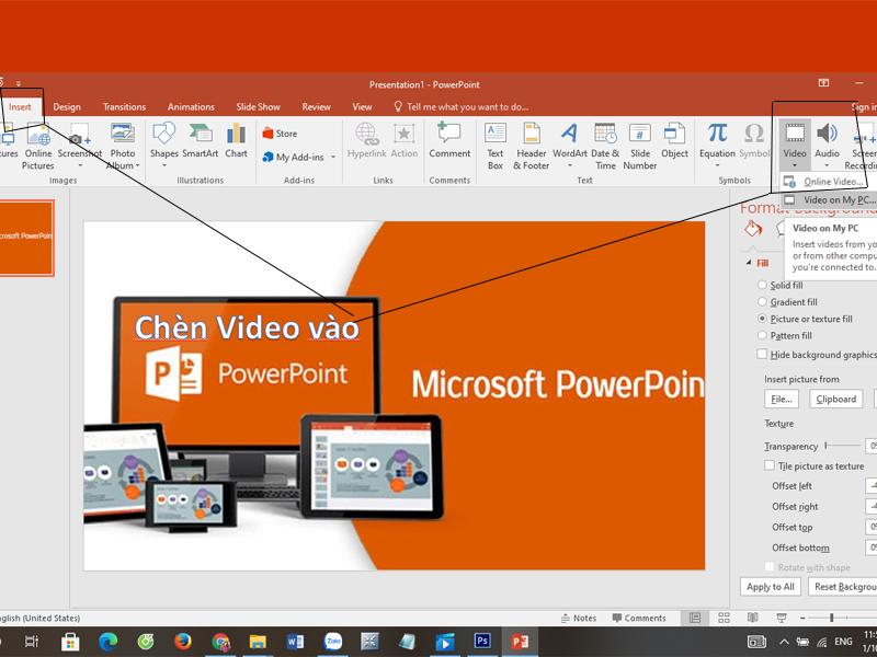 Chèn Video Vào PowerPoint
